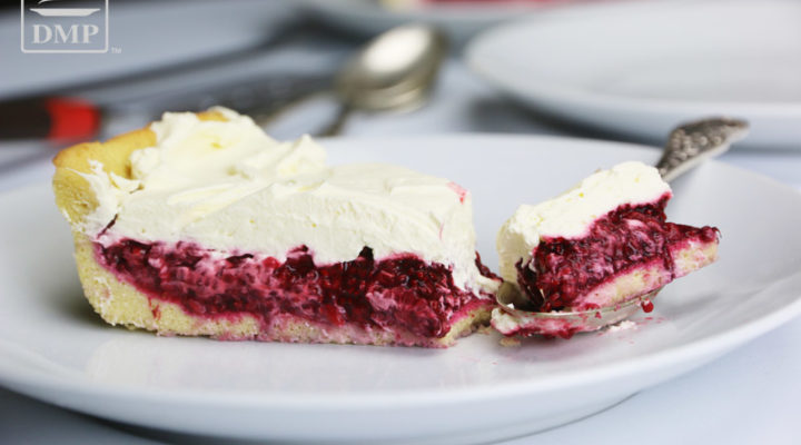 Low Carb Raspberry Cream Pie
