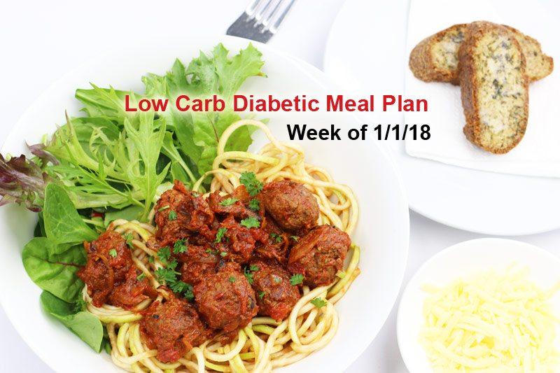 Diabetic Meal Plan: Week of 1/1/18