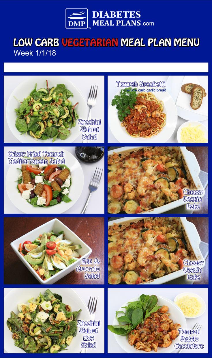 Vegetarian Diabetic Meal Plan: Week 1-1-18