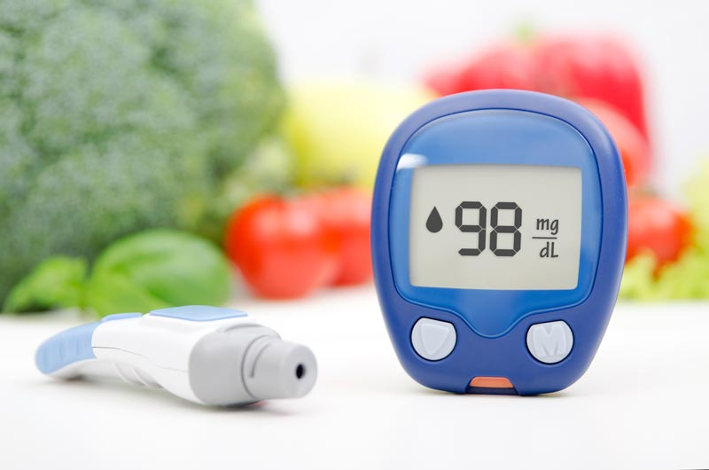 Lower blood sugar with a healthy diet