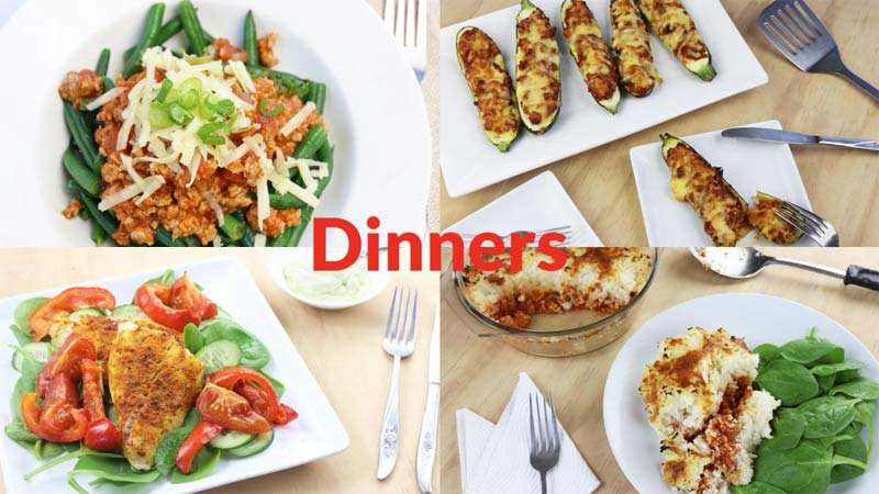 Featured Low Carb Diabetic Dinners 2-19-18
