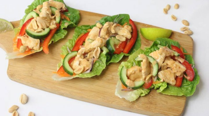 Satay Chicken Lettuce Cups | ©DMP