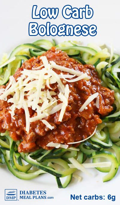 Low Carb Bolognese (Chicken Sauce) - diabetic recipe!