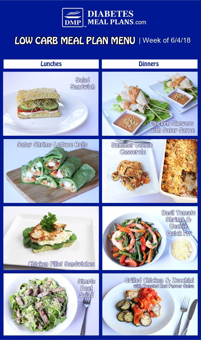 Diabetic Meal Plan Combo: Week of 6-4-18