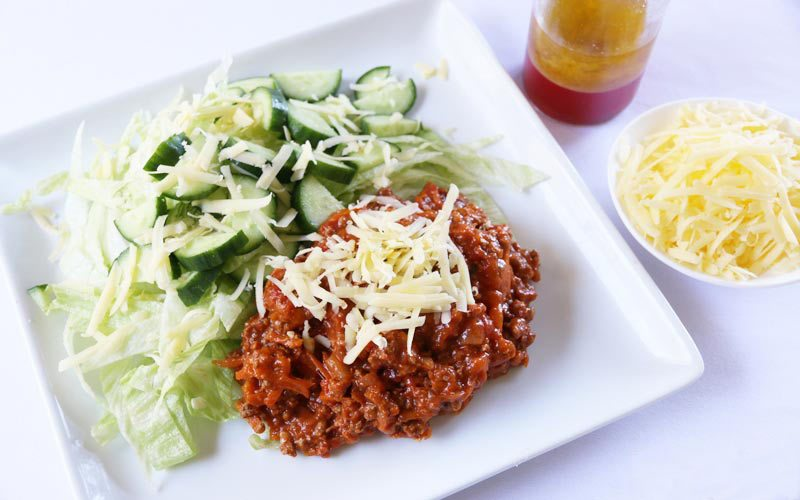 Bolognese and Salad