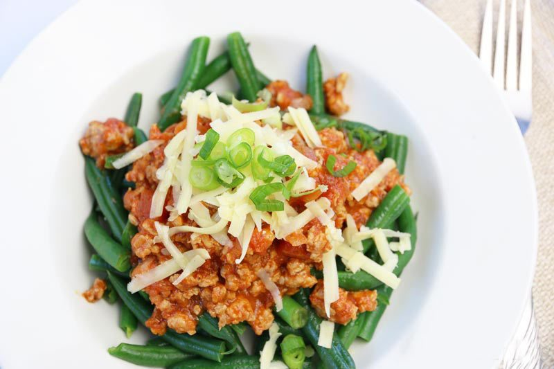 Low Carb Bolognese Sauce (Ground Chicken)