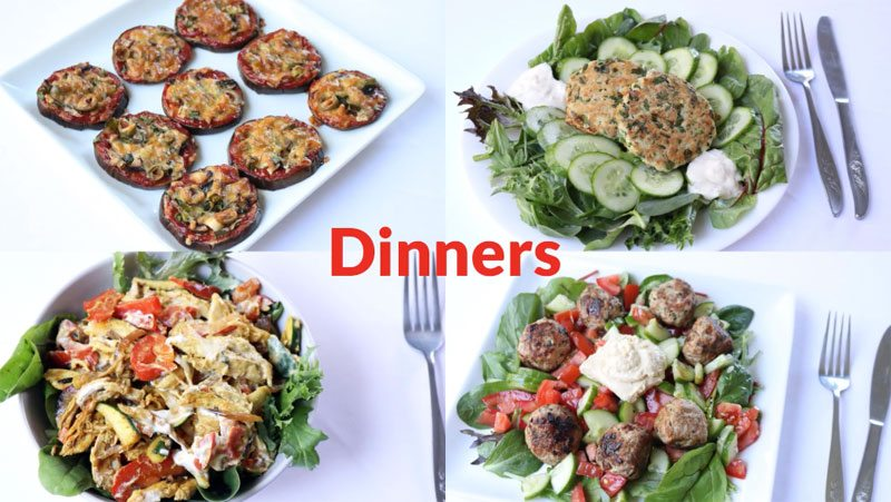 Featured Diabetic Dinners Week of 6-8-20