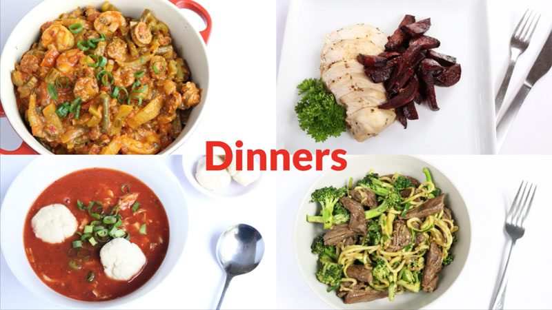 Featured Diabetic Dinners: Week of 7-2-18