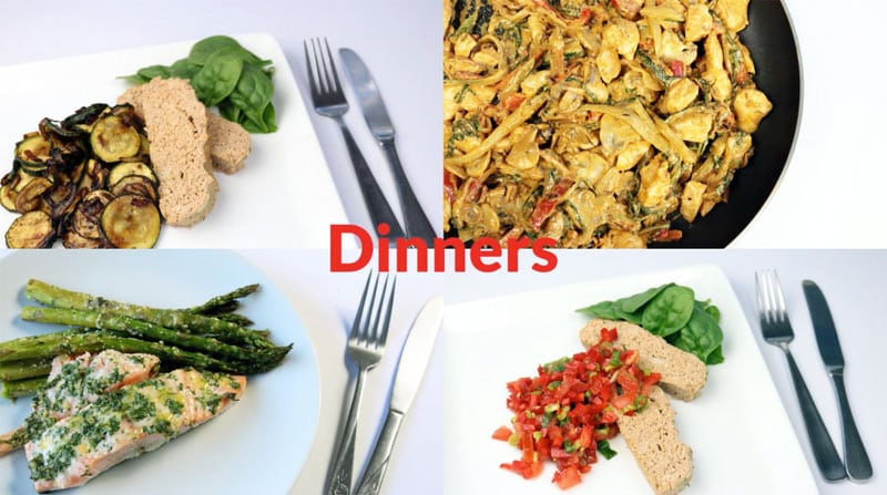 Featured diabetic meal plan dinners: week of 8-17-20