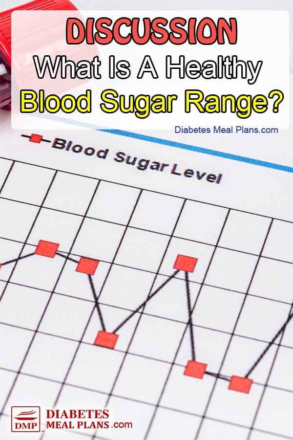Discussion on healthy blood sugar range