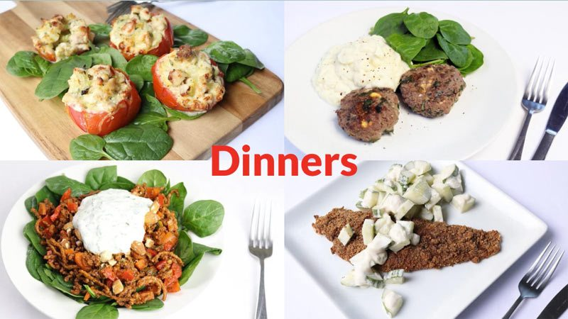 Featured Diabetic Dinners Week of 7-16-18