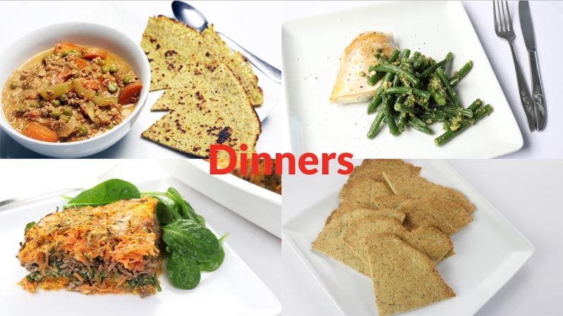 Featured Diabetic Dinners Week of 7-9-18