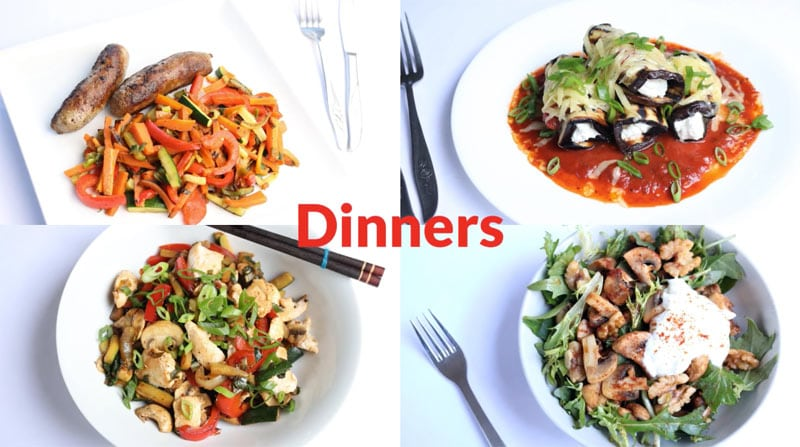 Featured Diabetic Dinners: Week of 8-13-18