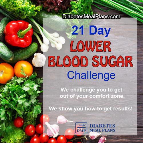 21 Day Lower Blood Sugar Challenge   ©DMP