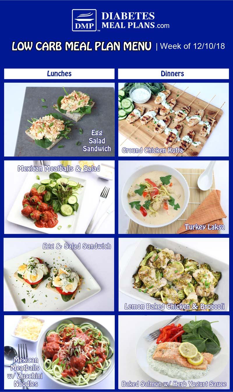 Diabetic Meal Plan Preview: Week 12/10/18
