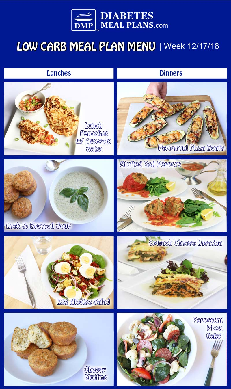 Diabetic Meal Plan Preview: Week of 12-17-18