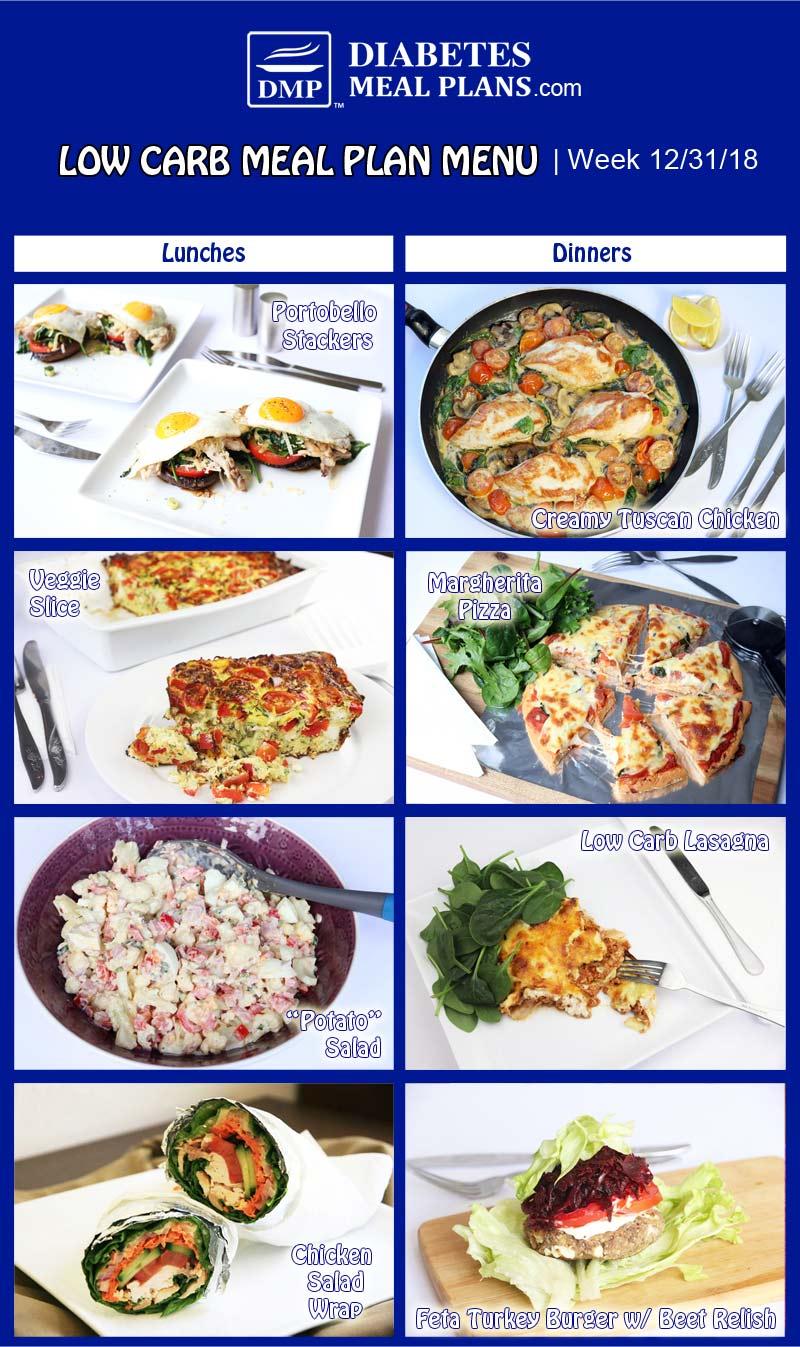 Diabetic Meal Plan Preview: Week of 12-31-18