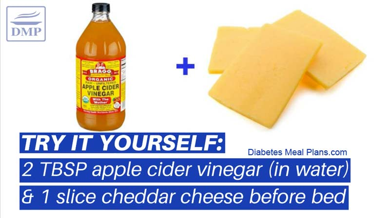 cheese and vinegar for morning blood sugar