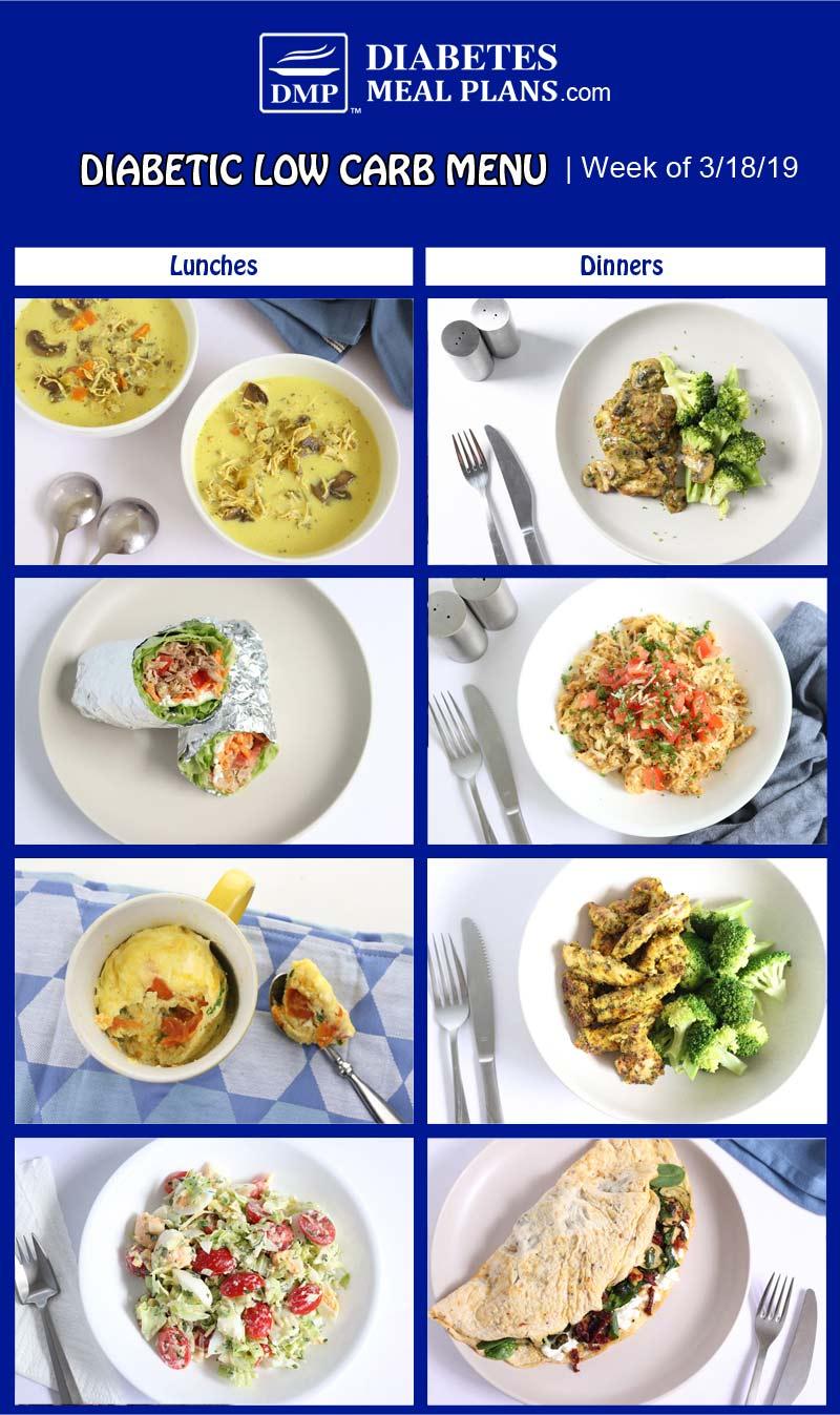 Diabetic Meal Plan Preview: Week of 3/18/19