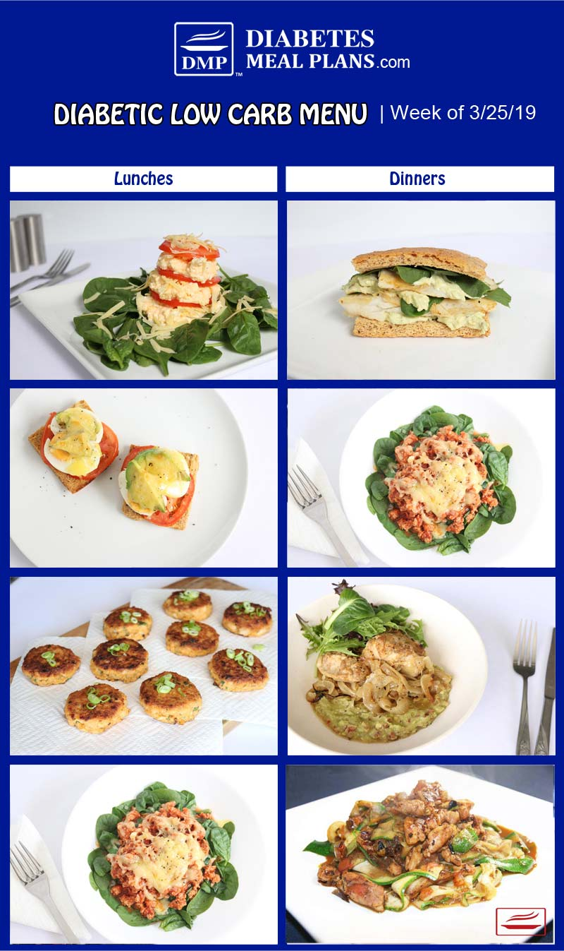 Diabetic Meal Plan Preview: Week of 3/25/19