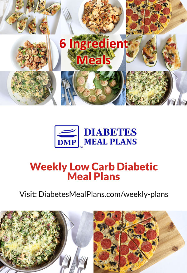 Low Carb Diabetic Meal Plan: Week of 5/6/19