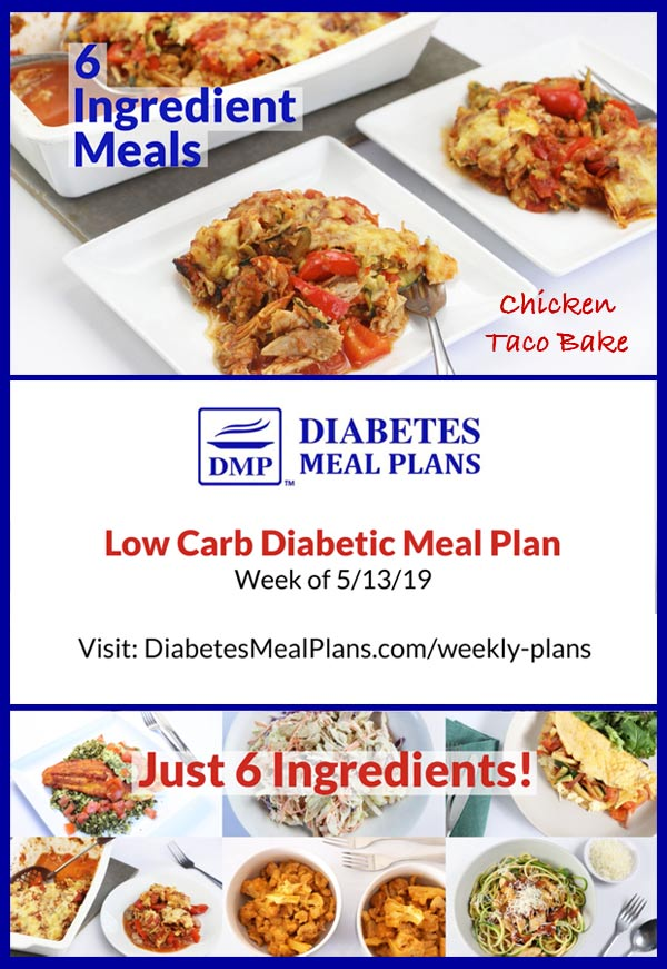 Featured Diabetic Meal Plan: Week of 5/13/19