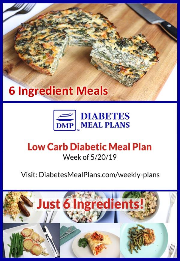 Featured Diabetes Meal Plan: Week of 5/20/16 - 6 Ingredient Meals