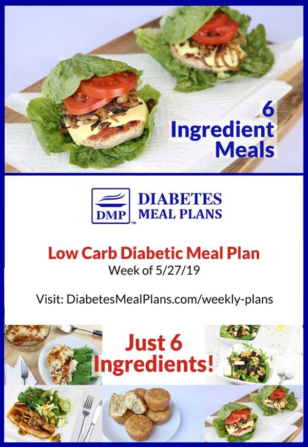 Featured Diabetes Meal Plan: Week of 5-27-19