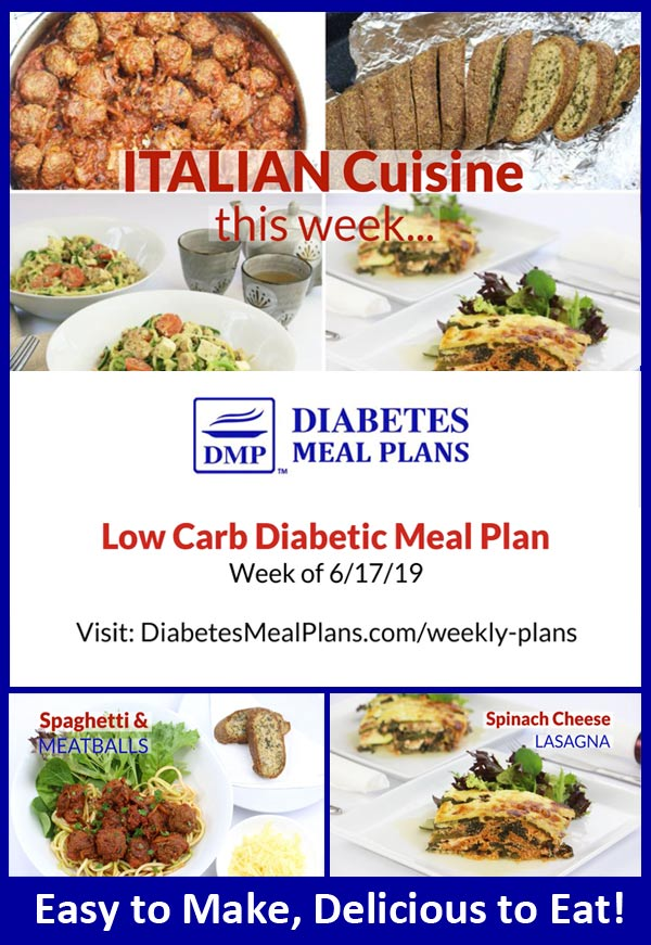 Featured Diabetes Meal Plan Preview: Week of 6-17-19