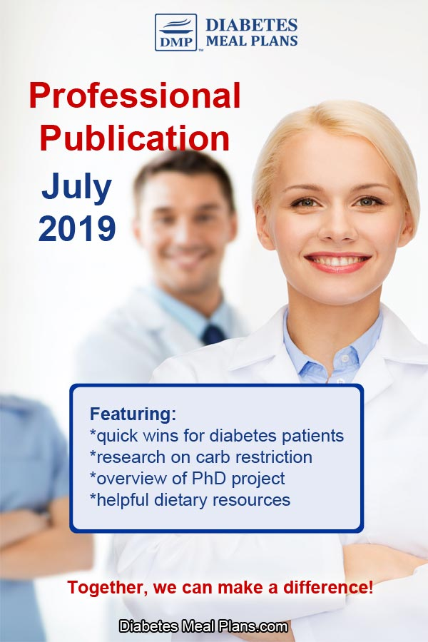 Treating Type 2 Diabetes & Prediabetes with Diet: Professional Publication July 2019