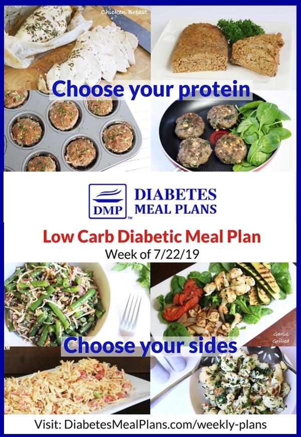 Diabetes Meal Plan: Week of 7-22-19