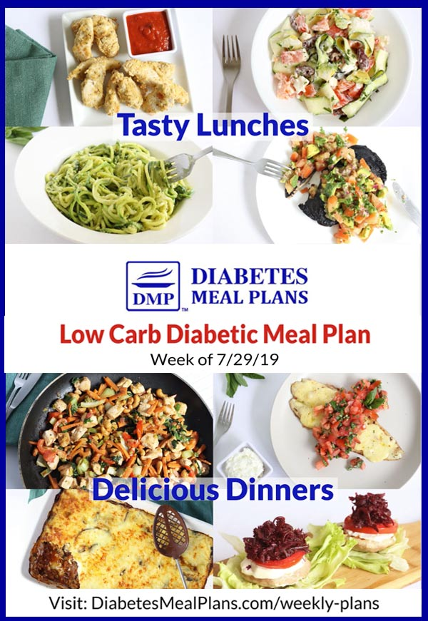 Diabetes Meal Plan: Week of 7-29-19
