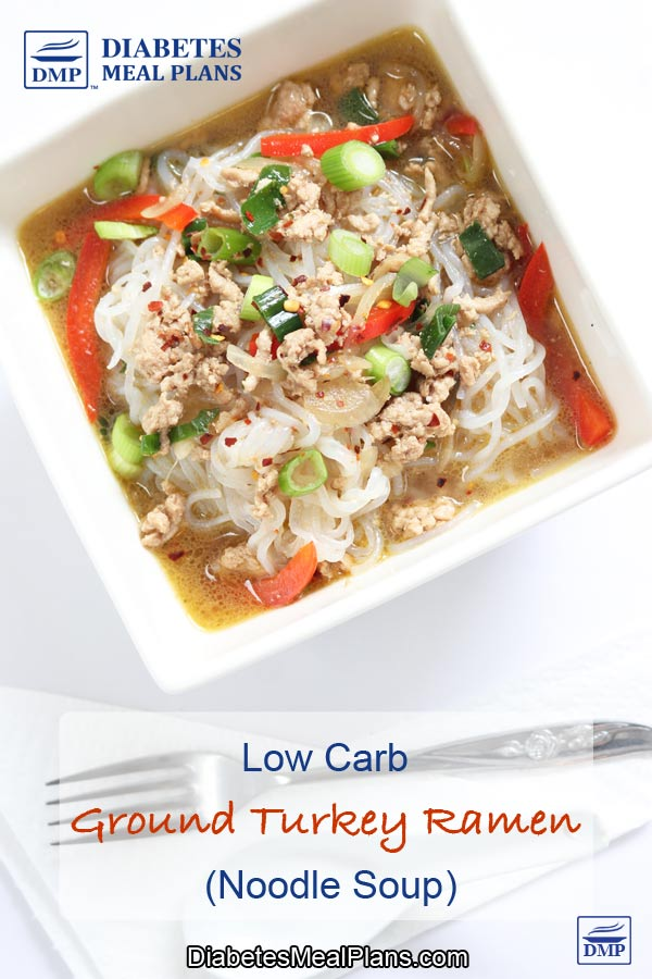 Turkey Ramen (Low Carb Noodle Soup)