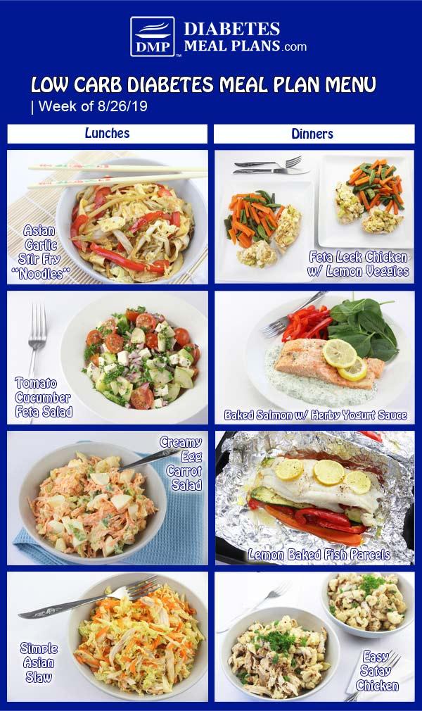 Diabetes Meal Plan Preview: Week of 8-26-19