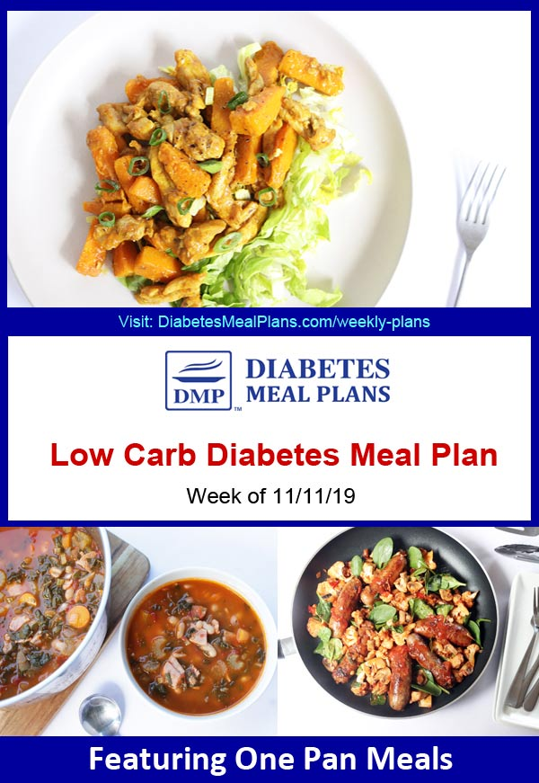 Featured Diabetes Meals: Week of 11-11-19