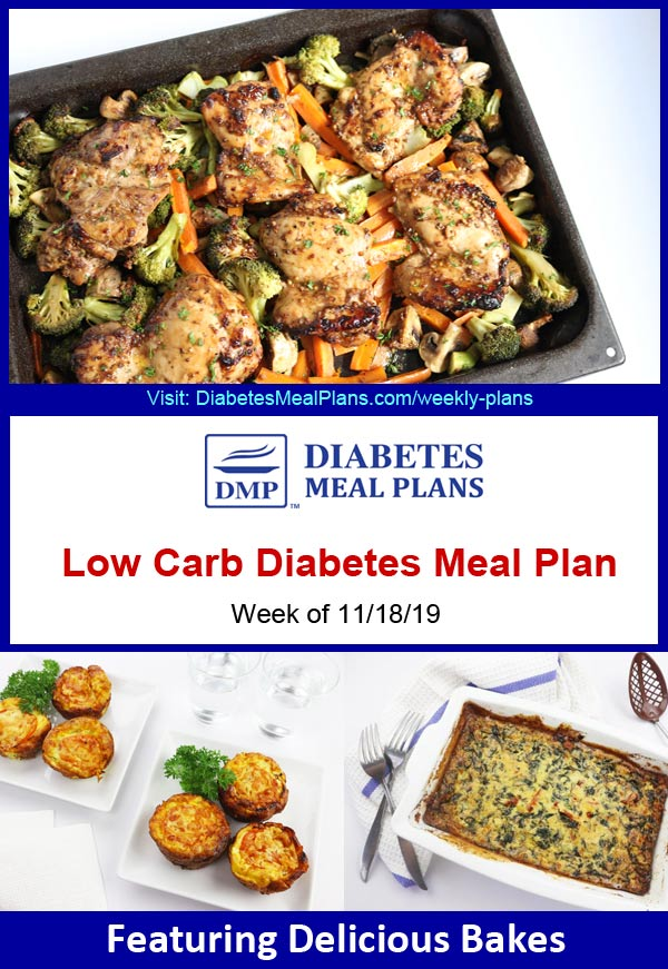 Featured Diabetes Meal Plan: Week of 11/18/19