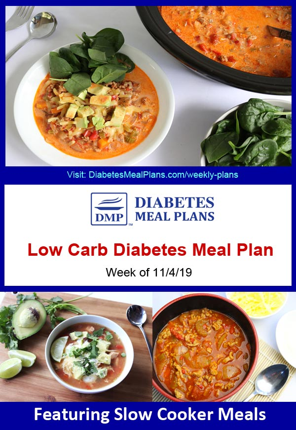 Featured Diabetes Meal Plan: Week of 11/4/19