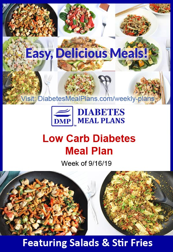 Featured Diabetes Meal Plan: Week of 9-16-19