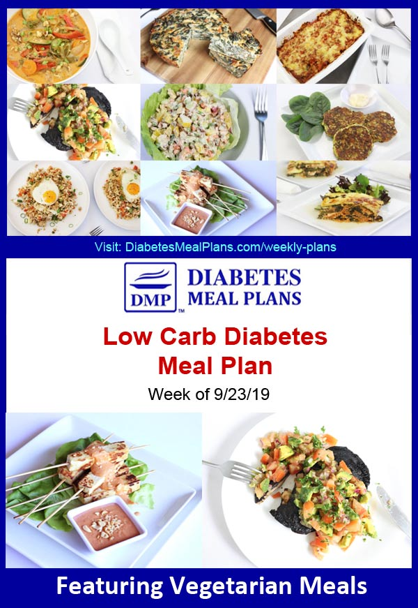 Featured Diabetes Meal Plan: Week of 9/23/19