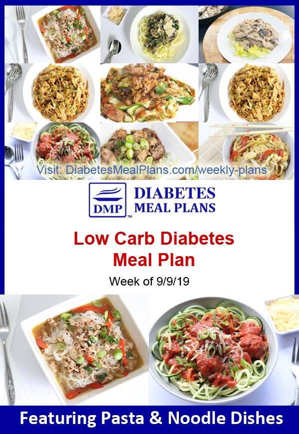 Diabetes Meal Plan: Week of 9/9/19