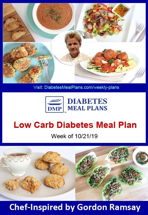 Featured Diabetes Meal Plan: Week of 10-21-19 - Inspired by Gordon Ramsay