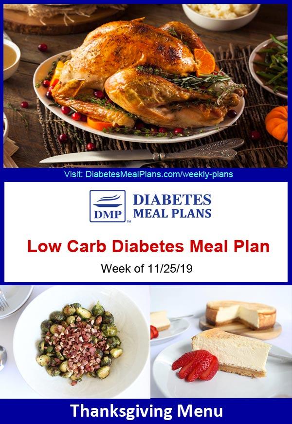 Featured diabetes meal plan - thanksgiving week