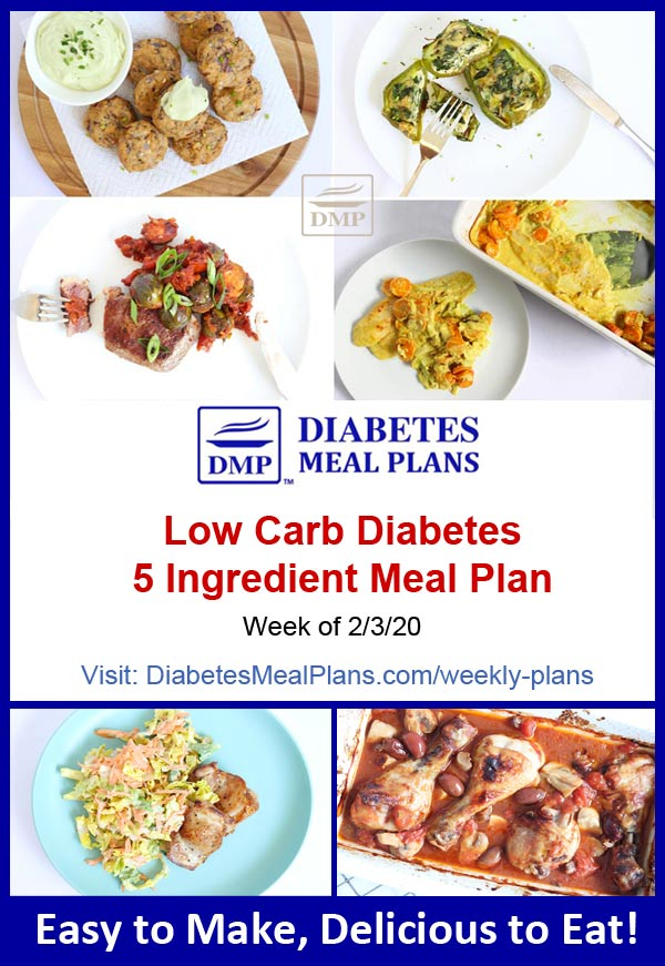 Diabetes Meal Plan: Week of 2-3-20