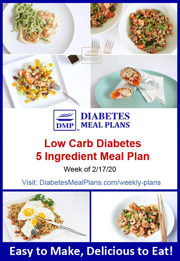 Diabetes Meal Plan: Week of 2-17-20