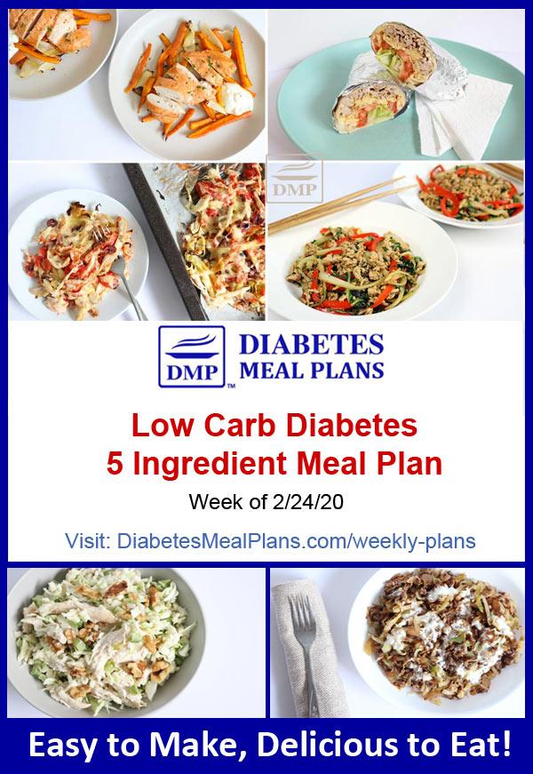 Diabetes Meal Plan: Week of 2-24-20