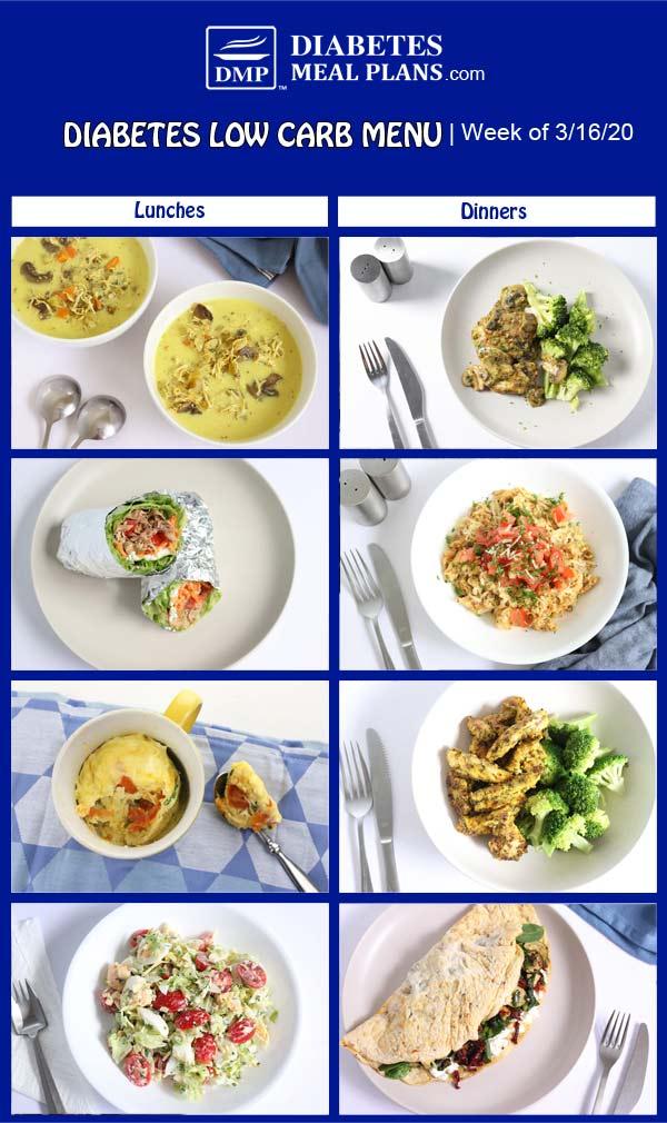 Diabetes Meal Plan: Menu Week of 3/16/20