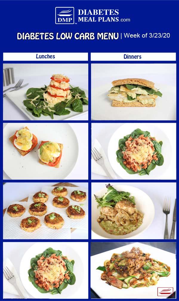 Diabetes Meal Plan: Menu Week of 3/23/20