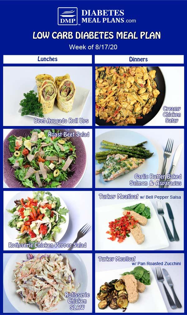 Diabetes Meal Plan: Menu Week of 8/17/20