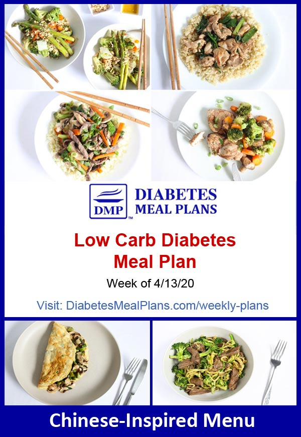 Diabetes Meal Plan: Menu Week of 4/13/20