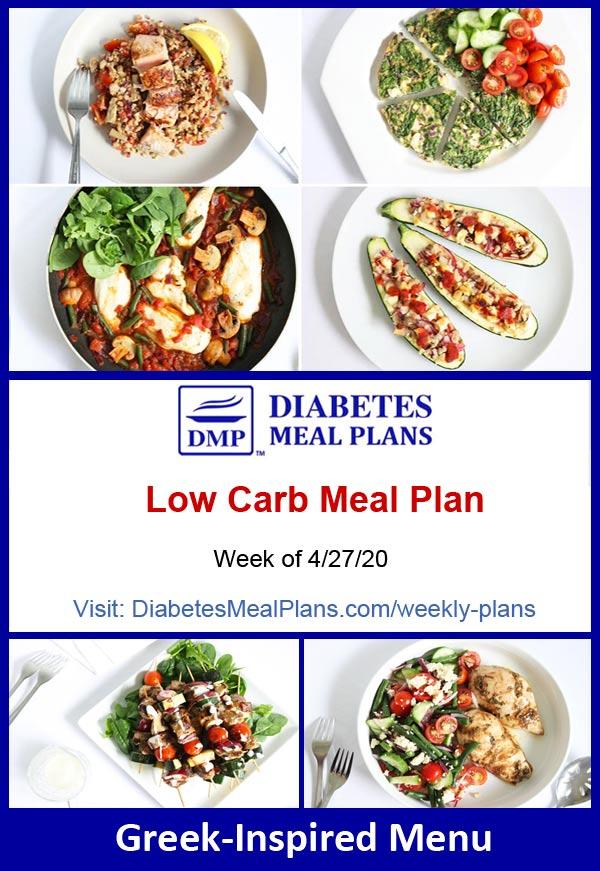 Diabetes Meal Plan: Menu Week of 4/27/20